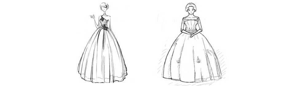 通常有五个基本款a字型,王后型,修身婚纱,公主式婚纱,鱼尾婚纱.