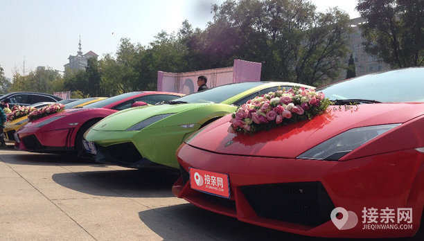 套餐兰博基尼Gallardo+5辆兰博基尼Gallardo婚车