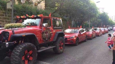 婚车套餐Jeep牧马人+马自达阿特兹