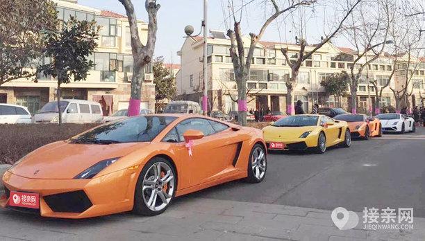 套餐兰博基尼Aventador+9辆劳斯莱斯幻影婚车