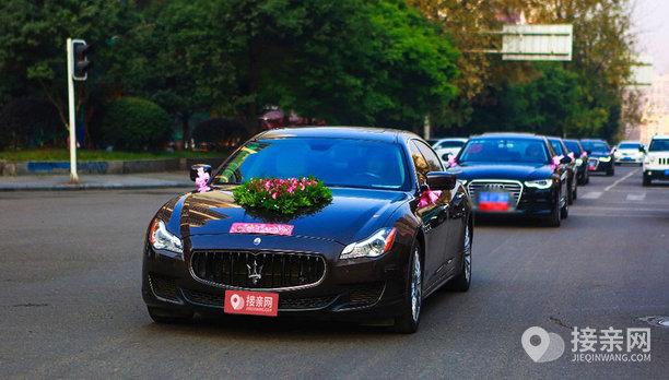 套餐玛莎拉蒂总裁+10辆奥迪A6L婚车