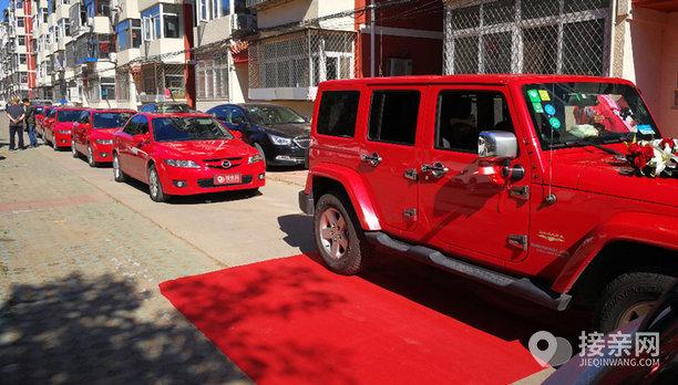 套餐Jeep牧马人+9辆马自达6婚车