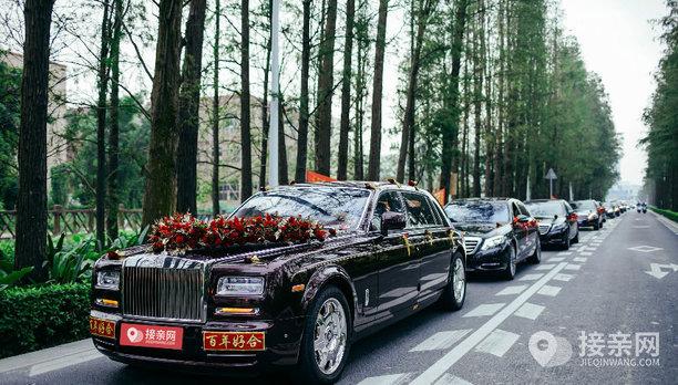 套餐劳斯莱斯幻影+13辆奔驰S级婚车