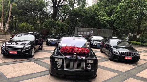 婚车套餐劳斯莱斯幻影+奔驰SL级AMG