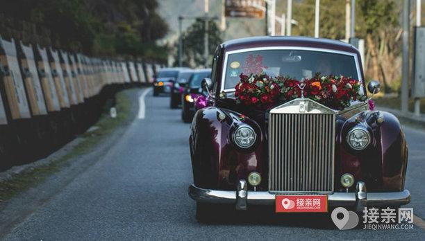 套餐老爷车银云+30辆玛莎拉蒂总裁婚车
