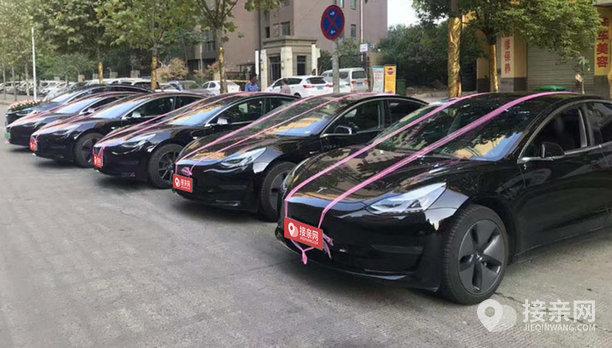 套餐劳斯莱斯幻影+16辆特斯拉MODEL S婚车